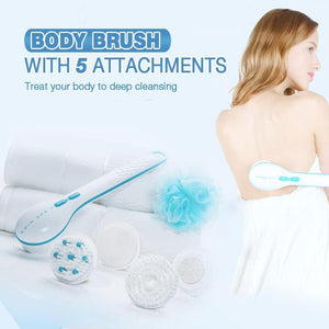 Body Brush with 5 Attachments(1 Set)