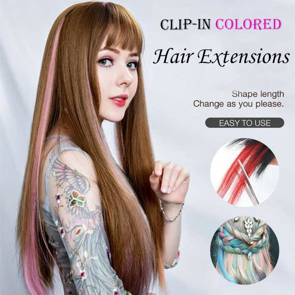 Clip-in Colored Hair Extensions