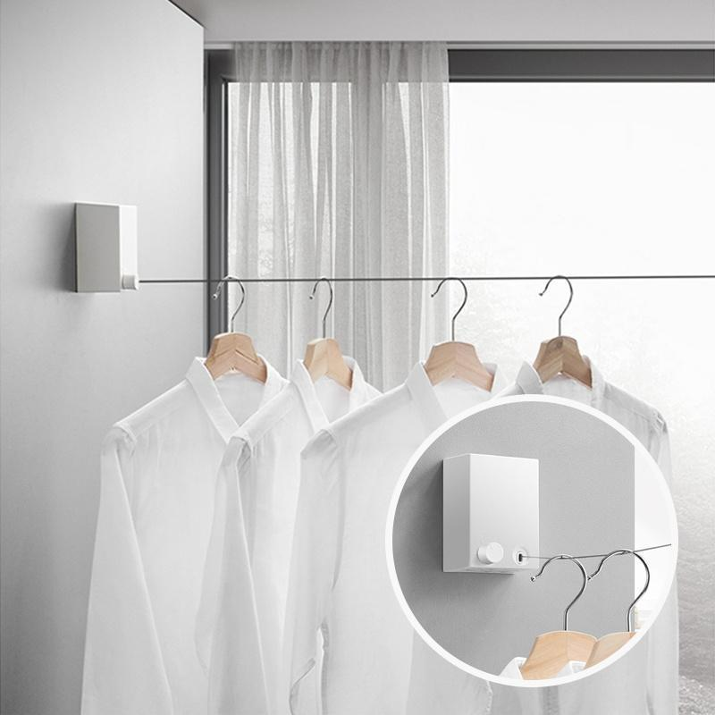 (50%OFF)Telescopic Stainless String Invisible Clothesline