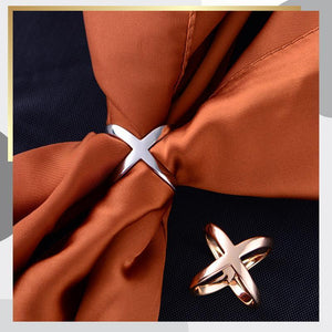 Multi-purpose Cross Three-ring Scarf Buckle (50% OFF!)