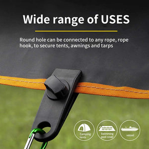 Fixed Plastic Clip For Outdoor Tent (10 PCS)