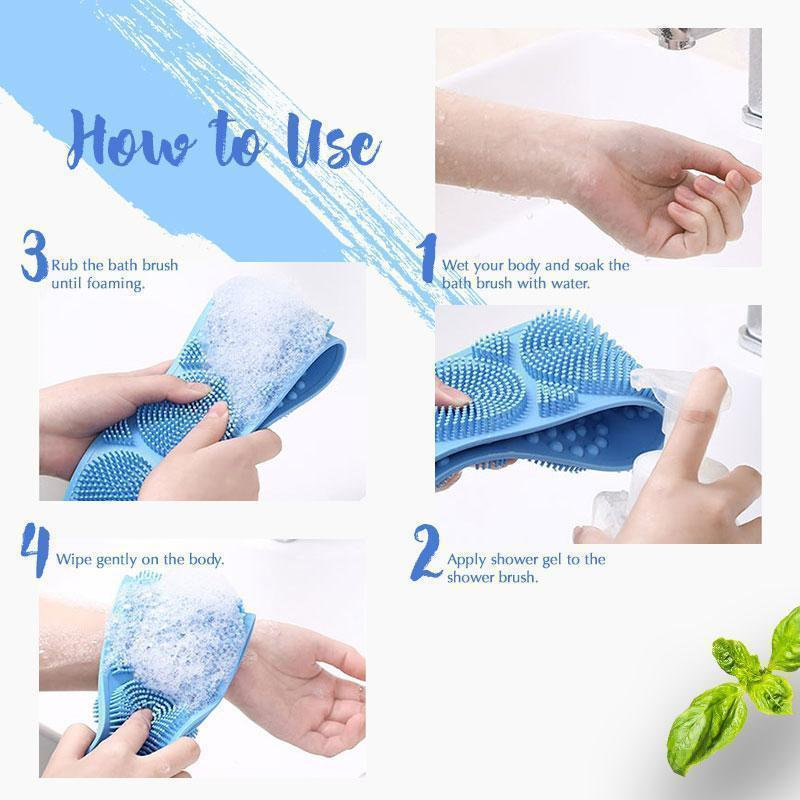☃Christmas Sale 50% OFF☃Silicone Bath Body Brush(BUY 4 FREE SHIPPING)