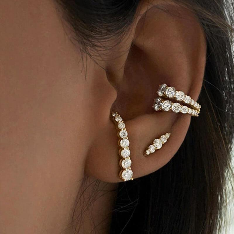 Painless Zircon Ear Bone Clip