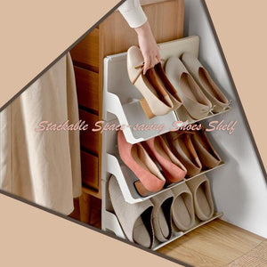 Stackable Space-saving Shoes Shelf