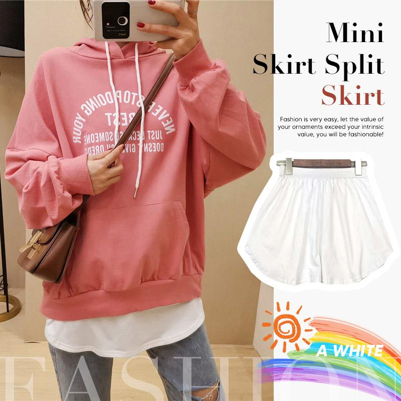 Mini Skirt Split Skirt