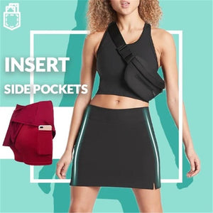 With pocket Workout Pleated Skorts