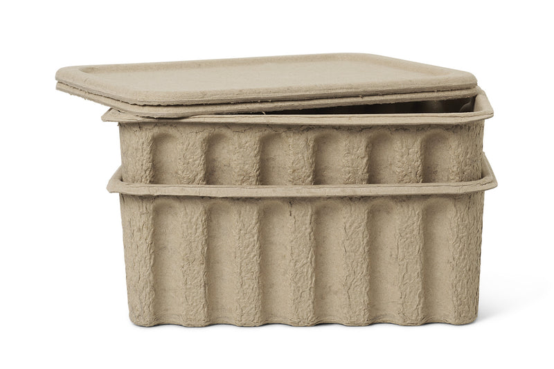 Large Paper Pulp Box - set of 2