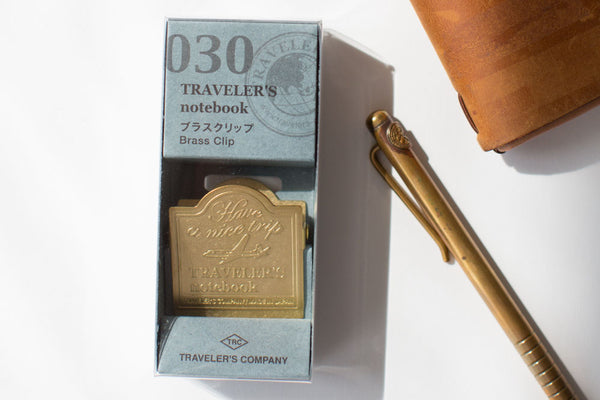 Traveler's Notebook Brass Clip - 030 Airplane