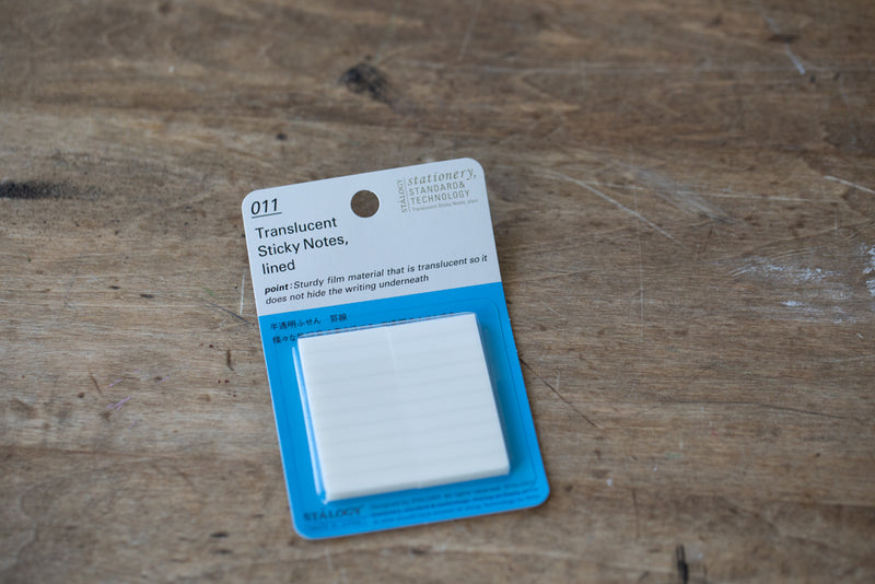 011 Translucent Sticky Notes - Lined 25 mm