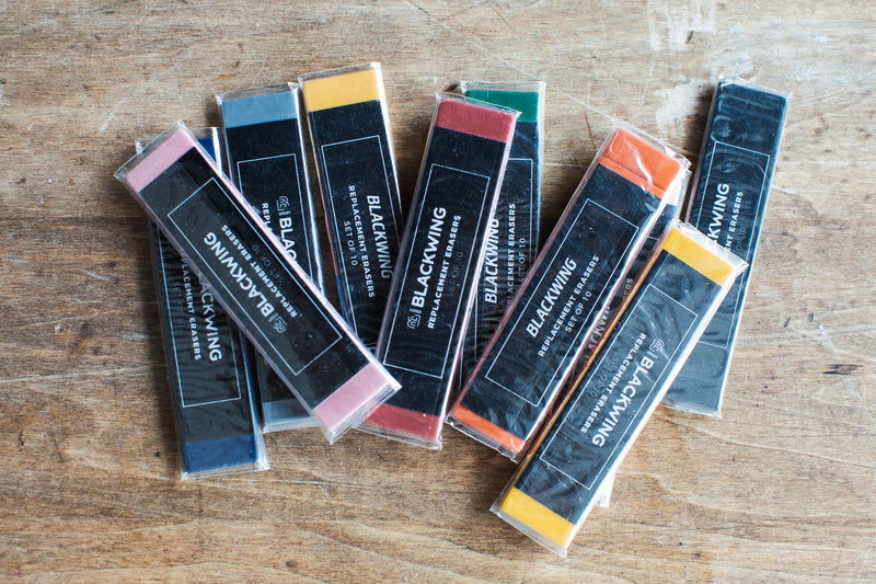 Blackwing Replacement Erasers – Navy Blue