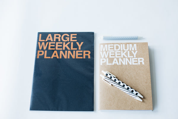 Large Weekly Planner - Indigo Blue