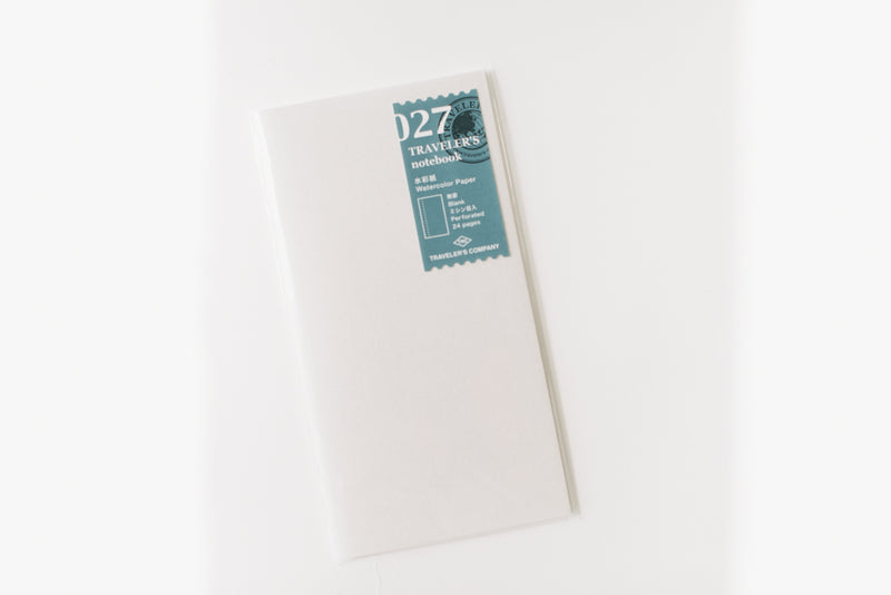 Traveler's Notebook Regular Size Refill - 027 Watercolor Paper