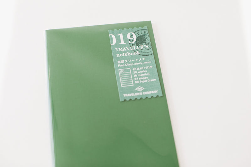 Traveler's Notebook Regular Size Refill - 019 Weekly+Memo