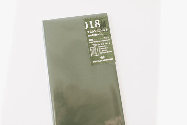 Traveler's Notebook Regular Size Refill - 018 Weekly Diary
