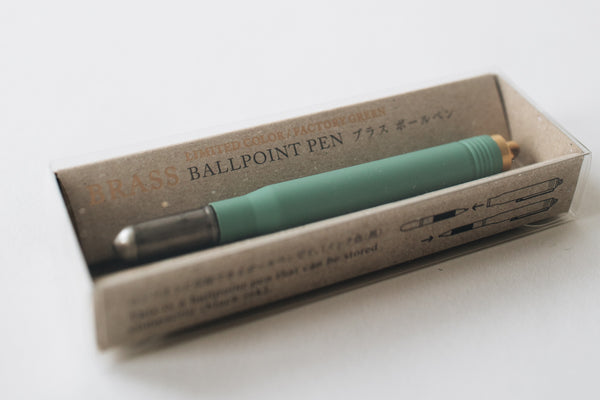 TRC Brass Ballpoint Pen - Factory Green