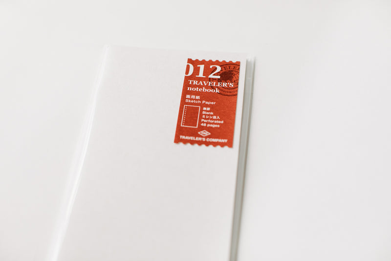 Traveler's Notebook Regular Size Refill - 012 Sketch Paper