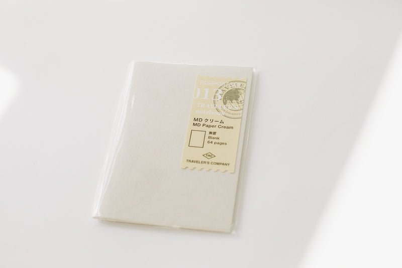 Traveler's Notebook Passport Size Refill - 013 MD Paper Cream
