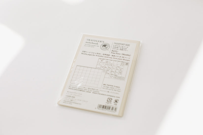 Traveler's Notebook Passport Size Refill - 006 Monthly Diary