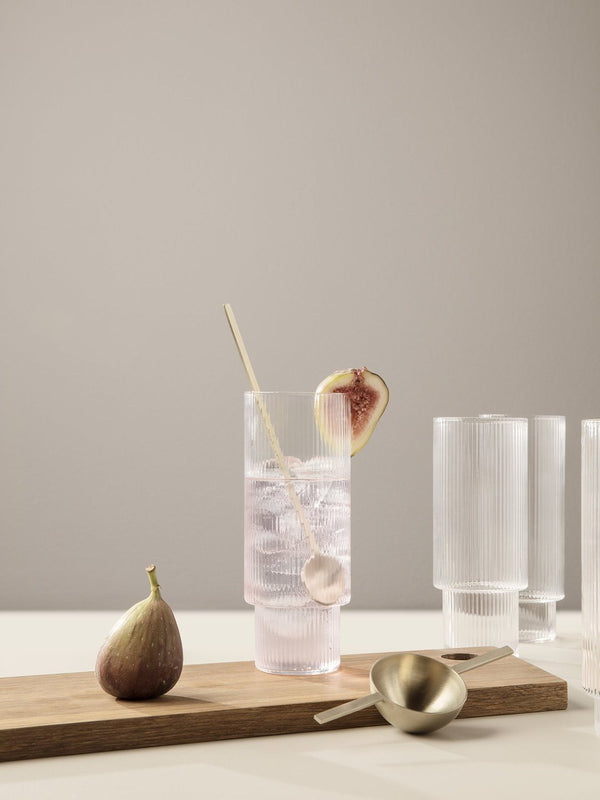 Ripple Long Glasses - Set of 4 Clear