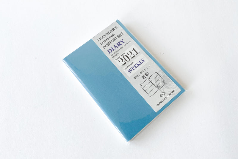 Traveler's Notebook Passport Size Refill  2021 Weekly