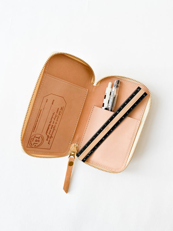 Leather Zip Pen Case