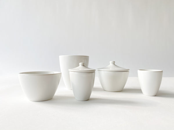 White Porcelain Long Cup Small