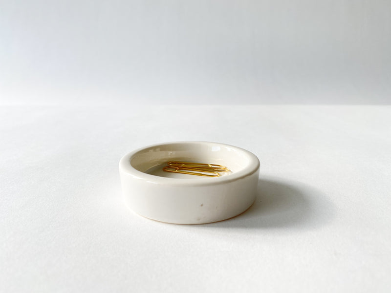 White Porcelain Round Tray - Small