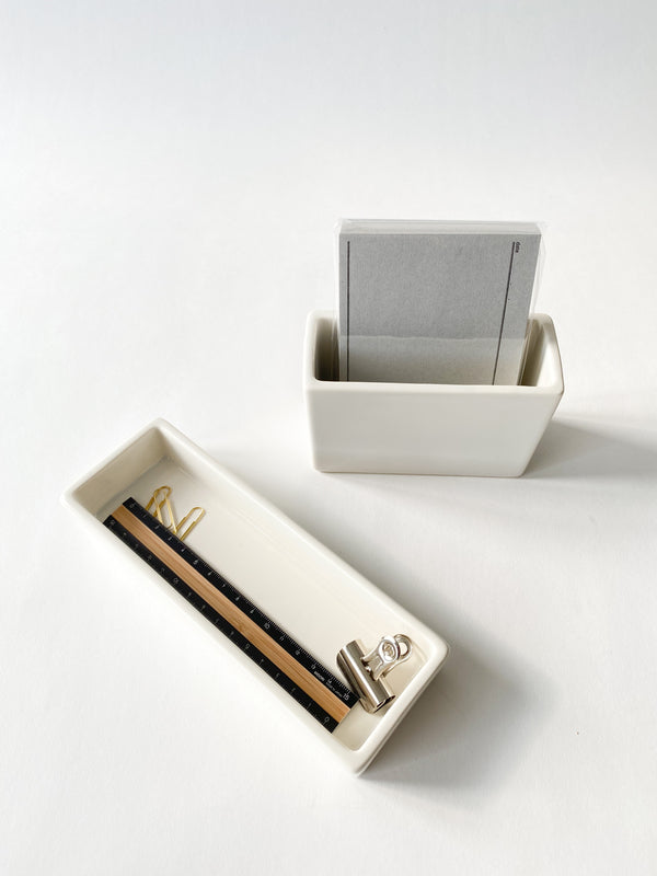 White Porcelain Square Pot (Postcard Size)