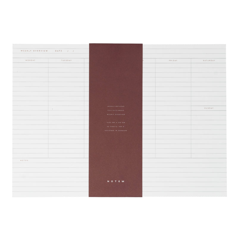 MILO Weekly Planner Notepad