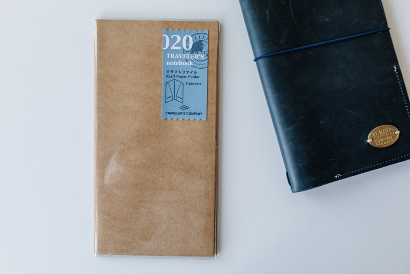 Traveler's Notebook Regular Size - 020 Kraft Paper Folder