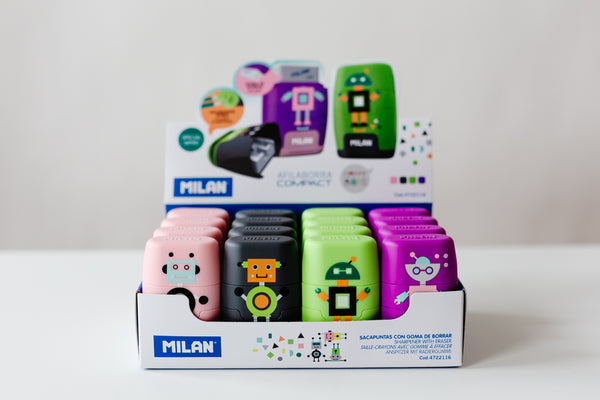 MILAN Happy Bot Sharpener and Eraser