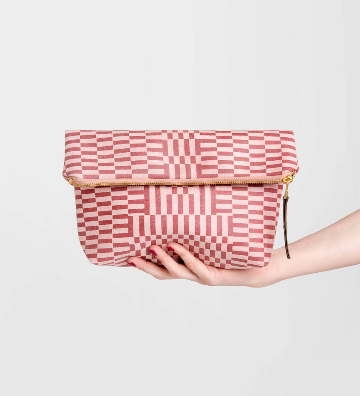 EVERYTHING FOLDOVER CLUTCH, GUARDIAN ROSE