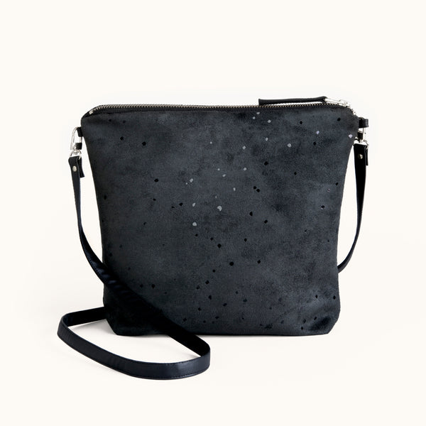 Lee Coren Confetti BB Everything Crossbody & Clutch Vegan Suede Bag