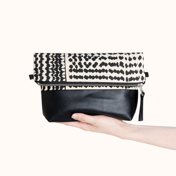 Crete Everything Crossbody Bag & Clutch by Lee Coren | Sac Vegan | Handmade Ethically