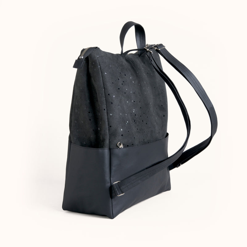Commute and Travel Vegan Suede Leather Backpack by Lee Coren