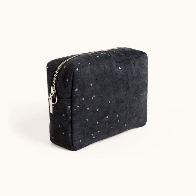 Vegan Suede and Faux Leather Crossbody Bag by Lee Coren