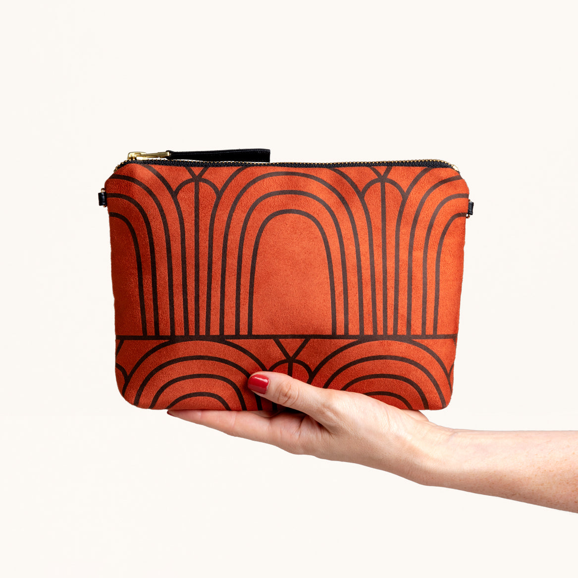 Art Deco Arches Print Clutch Purse by Lee Coren