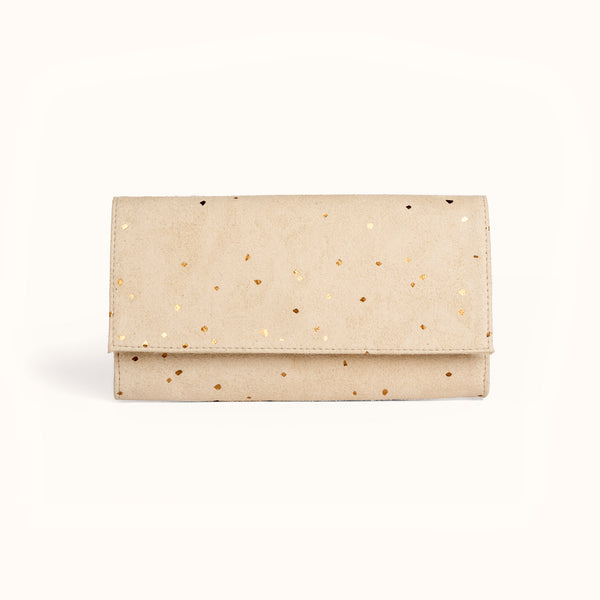 Vegan suede wallet purse by Lee Coren