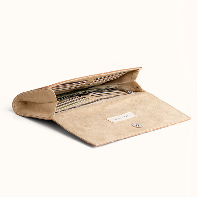 Lee Coren Large Minimal Wallet in Confetti Sand
