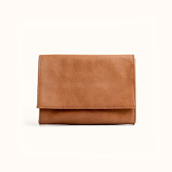 Minimal Wallet, Camel Brown | Vegan Leather Handmade Women's Wallet by Lee Coren