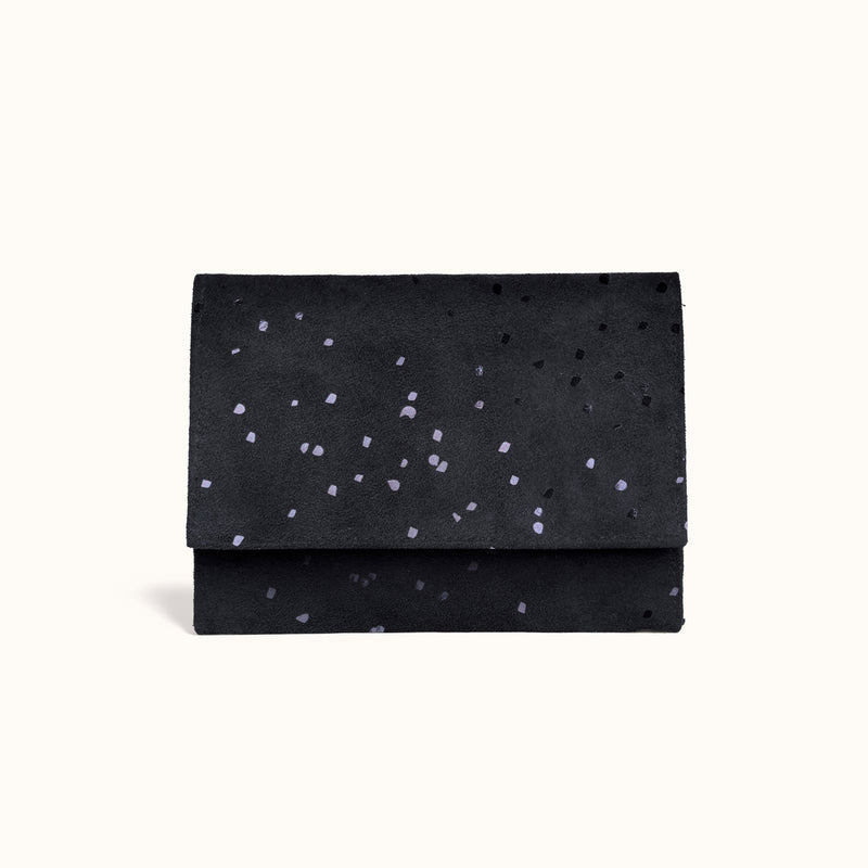 Lee Coren Confetti BB Minimal Wallet | Vegan Suede Women's Wallet