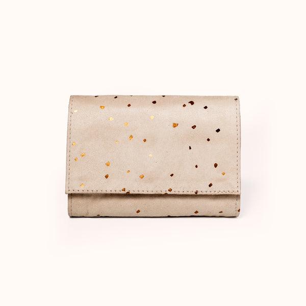 Minimal Wallet, Confetti Sand by Lee Coren | Handmade Vegan Wallet for Women