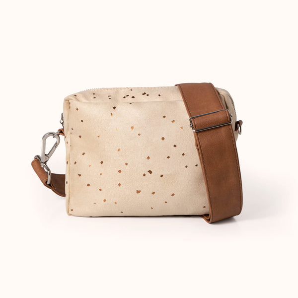Vegan Leather and Faux Suede Women's Box Crossbody Bag by Lee Coren