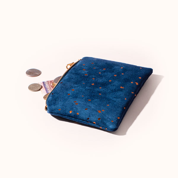Lee Coren Confetti Bronze and Indigo Portofino Pouch
