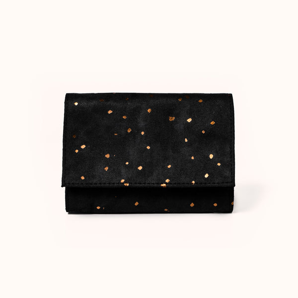 Lee Coren Midnight Minimal Wallet. Vegan Suede Women's Wallet