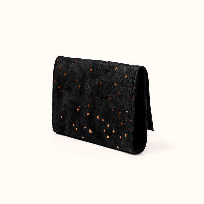 Minimal faux suede wallet for women by Lee Coren