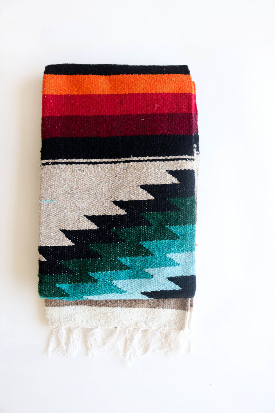 Fire and Ice Diamond // Handwoven Blanket