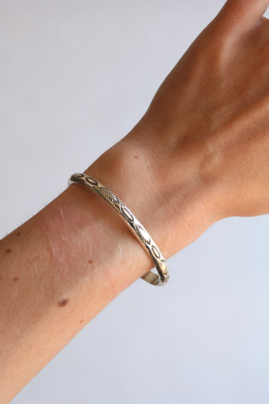 Bobby Becenti // Stamped Sterling Silver Bracelet