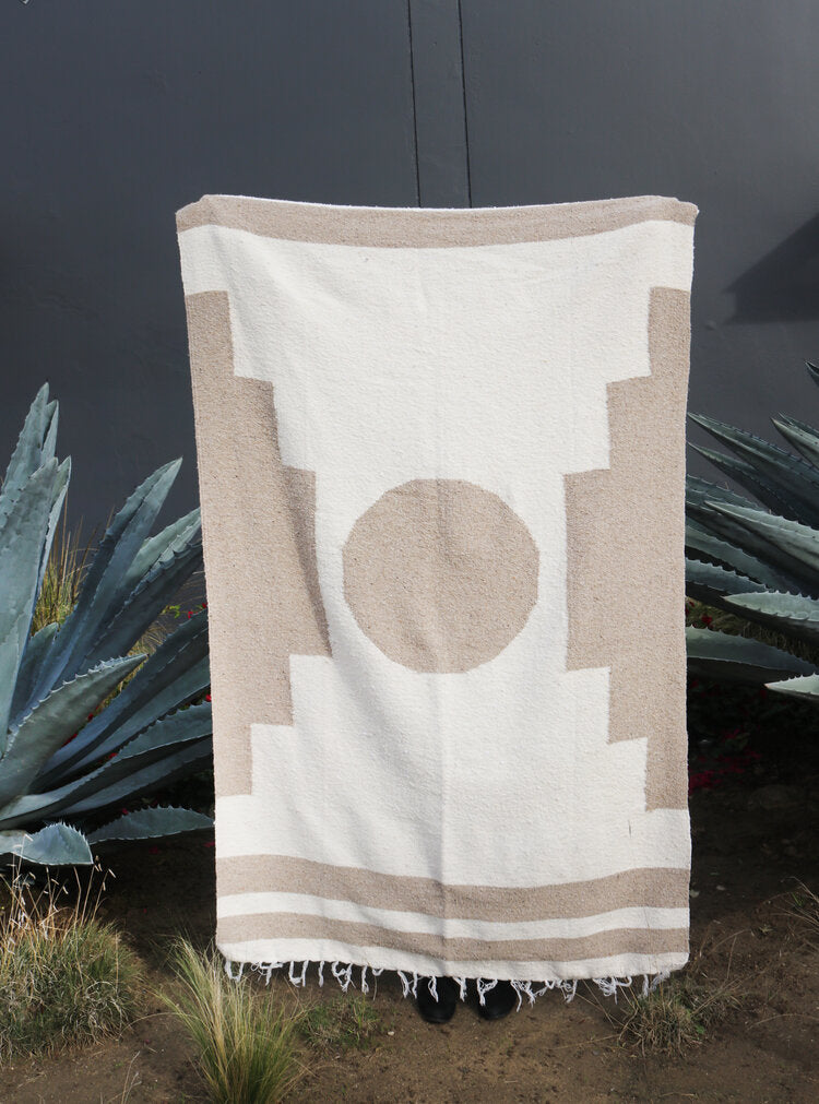 Luna Canyon (Natural) // Handwoven Blanket