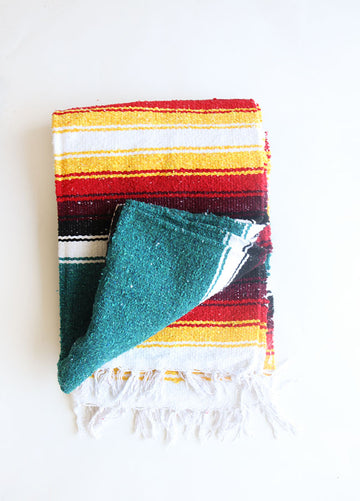 The Original (Teal) // Handwoven Blanket
